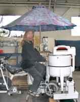Máquina de lavar movida a pedal