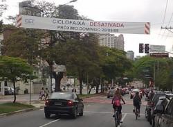 Ciclofaixa desativada: ciclistas desorientados. Foto: CicloBR