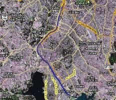 Ciclovia Marginal Pinheiros - mapa