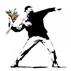 banksy flower chucker