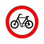 Placa permitido bicicletas