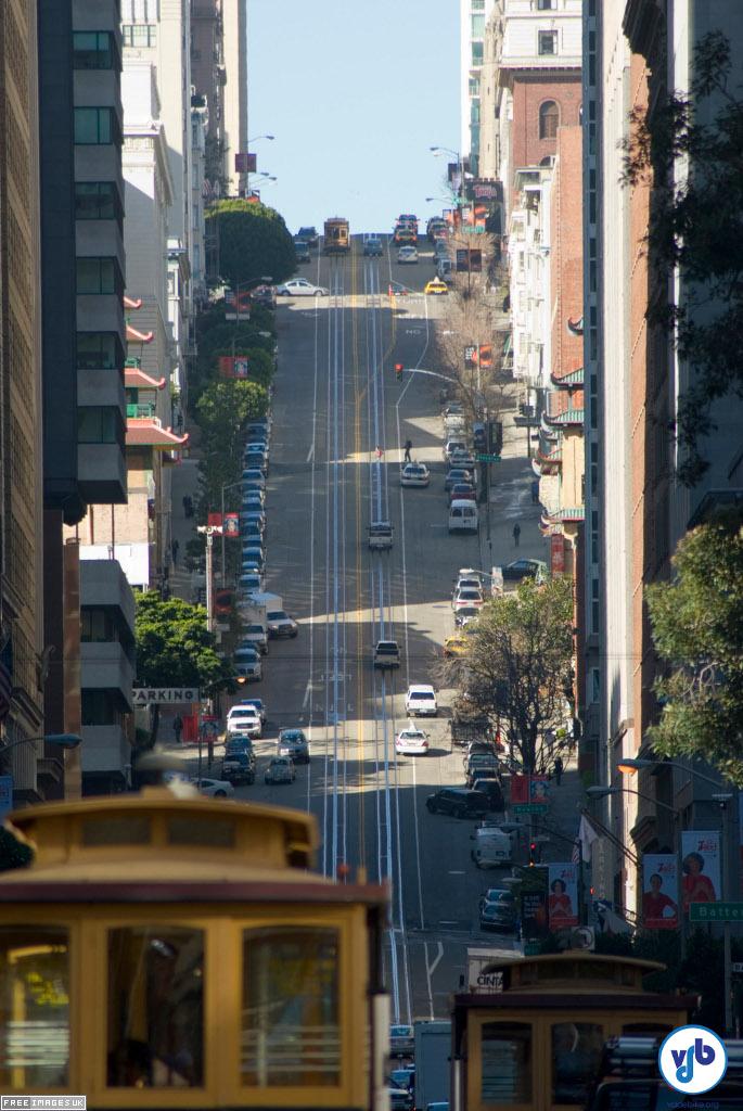 Dá uma olhada nessa outra subida aqui, no distrito de Nob Hill, também em San Francisco. Foto: www.freeimages.co.uk