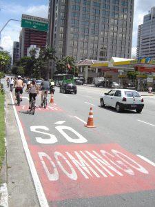 Ciclofaixa de Lazer na Zona Sul da capital Paulista. Foto: Carlos Aranha