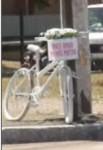 Bicicleta branca - mais amor, menos motor - Porto Alegre