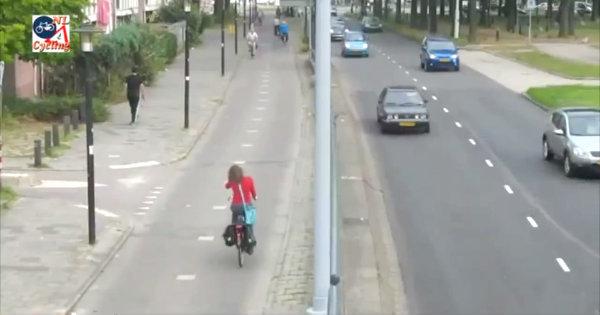 Ciclovia ns Holanda de hoje. Imagem: Dutch Cycling Embassy/Reprodução