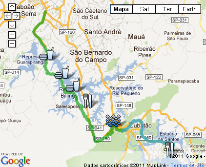 mapa rota marcia prado