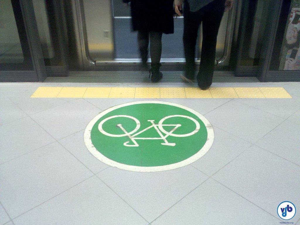 bicicleta metro simbolo
