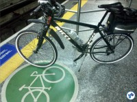 Bicicletas também são aceitas nos trens do Metrô. Foto: Willian Cruz