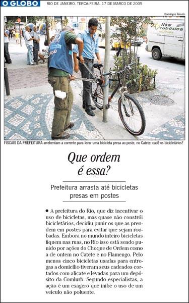 """Notícia original no jornal O Globo, publicada em 17 de março de 2009. Via """"Rio pra não chorar""""."""
