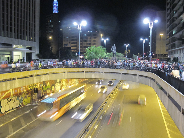 Praça do ciclista e bicicletada. Foto: Gonzalo Cuellar