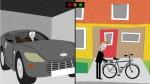 vídeo animação carro x bicicleta