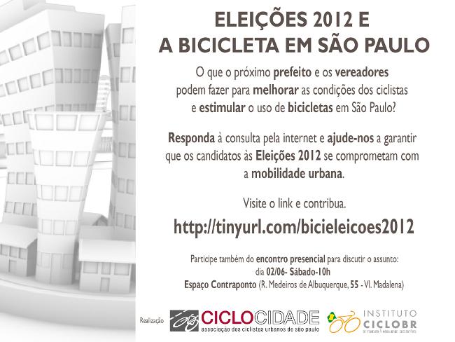 convite ciclocidade e ciclobr para eleições 2012