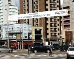 Faixa na região do Paraíso, em São Paulo. Foto: Michele Mamede
