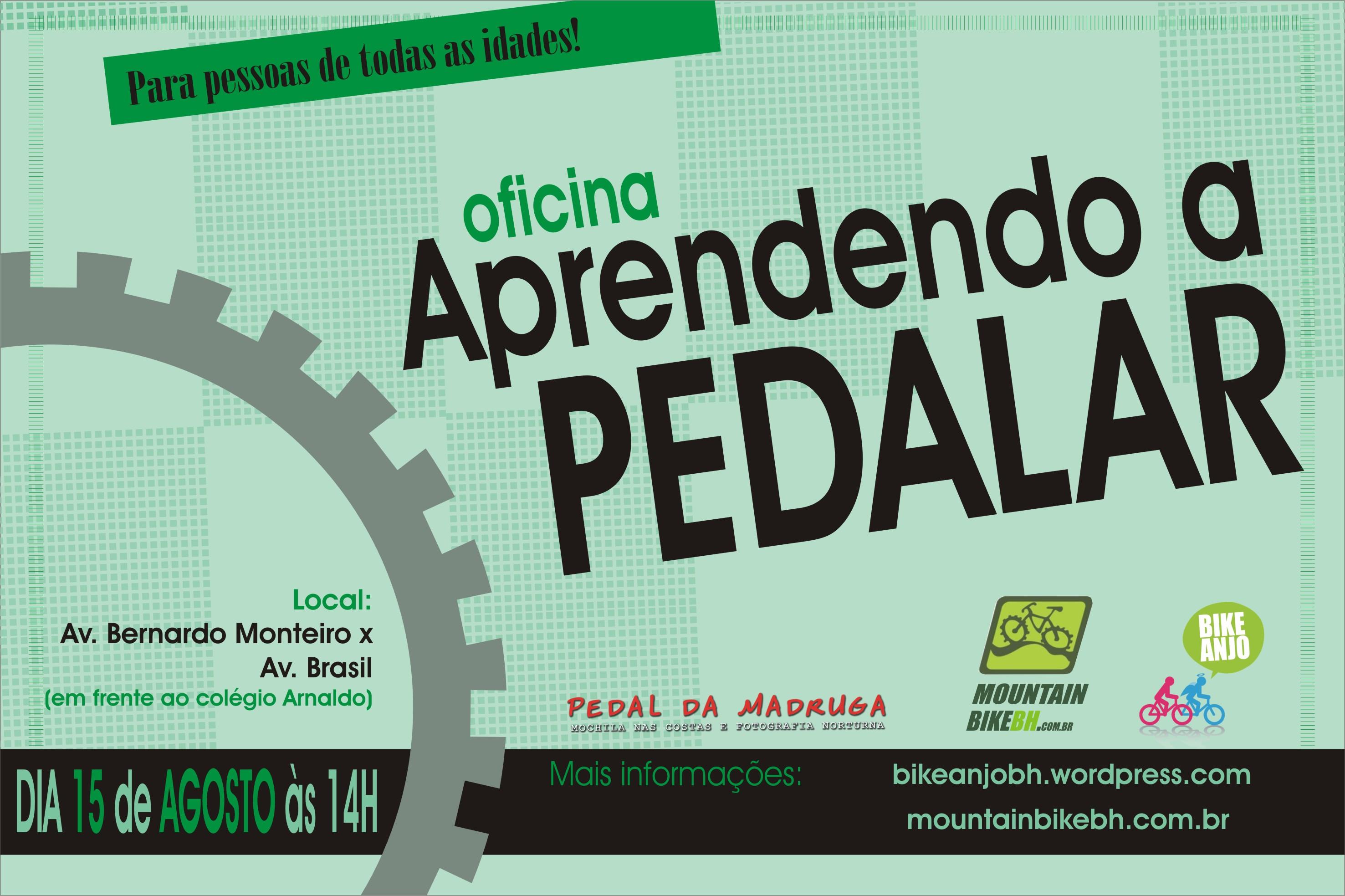 1º oficina Bike Anjo BH Aprendendo a Pedalar