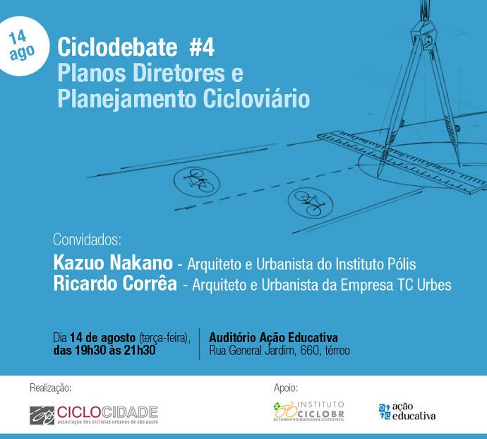 Ciclodebate 4 - Planos Diretores e Planejamento Cicloviario