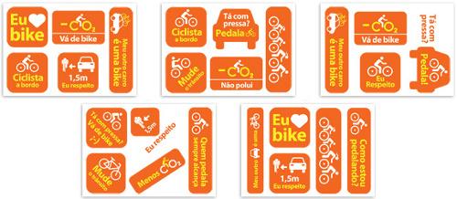 Armario Capsula Masculino ~ Adesivos em automóveis estimulam respeito ao ciclista