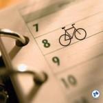 calendario com bike / agenda