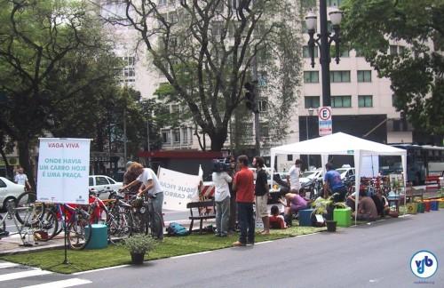 A primeira Vaga Viva de São Paulo, em 2006. Foto: Willian Cruz