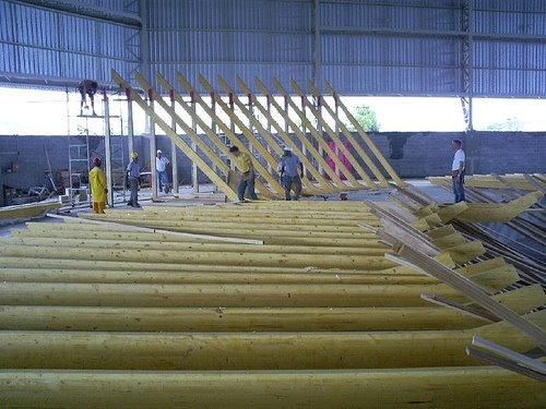 Foto que bombou nas redes sociais mostra construção de um velódromo em Santos
