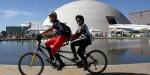 Projeto DV na Trilha leva deficientes visuais para pedalar em Brasília. Foto: Divugação
