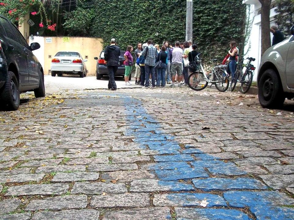 Marco inicial escolhido para simbolizar a nascente do Rio Verde - Foto Cristina Morales/ Divulgação Rios e Ruas