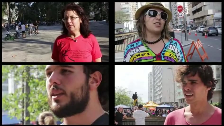 Aline Cavalcante, João Paulo Amaral e Ian Thomaz são alguns dos entrevistados. Imagem: Reprodução