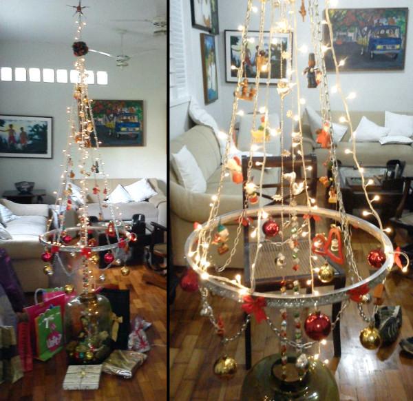Árvore de Natal criada por Daniel Valença. Foto enviada por Lígia Lima.
