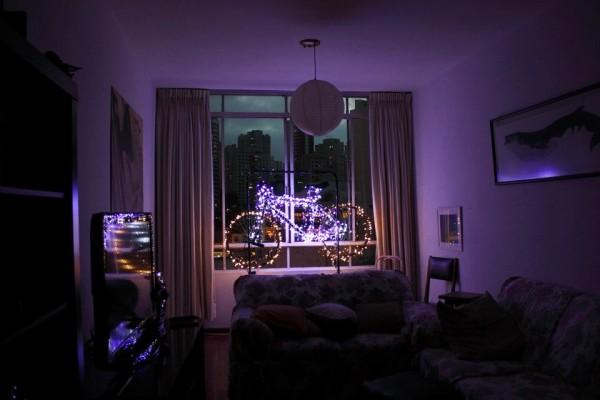 Olha que bacana a decoração de Natal que o Ivson Miranda fez em casa. Inspiradora! Valeu, Ivson! (Foto: Arquivo pessoal)