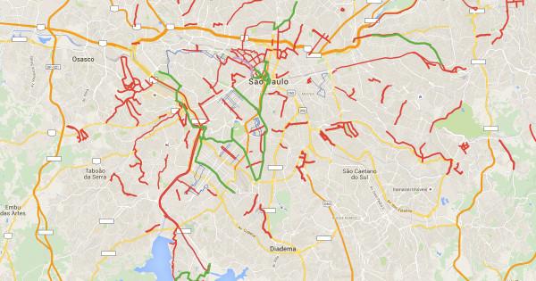 Mapa das ciclofaixas de lazer de São Paulo. Imagem: Vá de Bike.