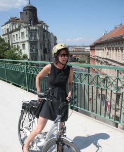Sadik-Khan em visita à cidade de Praga, capital da República Tcheca. Foto: European Cyclists' Federation