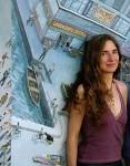 A artista plática e muralista, Mona Caron, foi uma das convidadas para o Fórum Mundial da Bicicleta em 2013. Foto: Divulgação/ Arquivo Pessoal