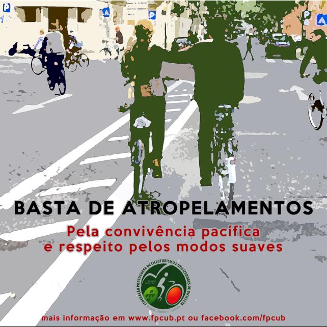 26 cidades portuguesas se unem em manifestação contra atropelamentos. Arte: FPCUB