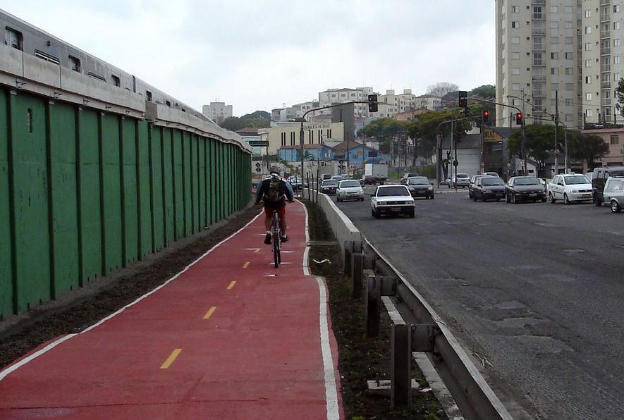 Ciclovia da Radial Leste será ligada à estrutura cicloviária do Centro. Foto: Felipe Aragonez