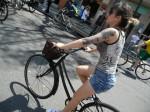 Ciclista em Curitiba. Foto: Aline Cavalcante