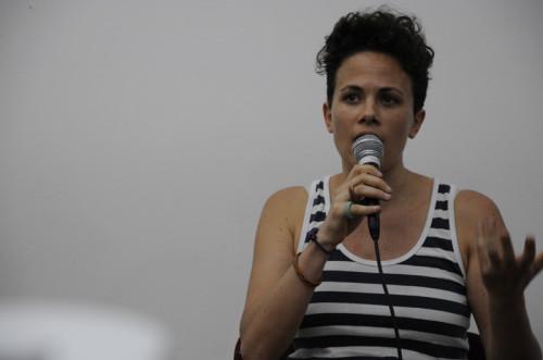 Caroline Saponaro, da Transportation Alternatives. Foto: Divulgação
