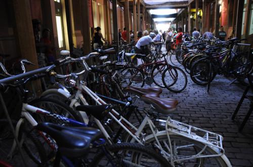 Bicicletário ficou lotado na Casa de Cultura Mário Quintana. Foto: Divulgação