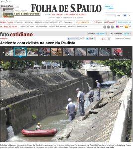Bombeiros e policiais militares procuraram sem sucesso o braço de David Santos de Souza, no córrego onde teria sido jogado. Imagem: Reprodução
