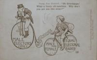 Mulheres voto - cartão postal antigo