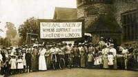 Mulheres voto - foto antiga