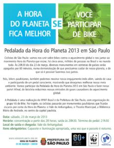 Passeio ciclístico Hora do Planeta 2013