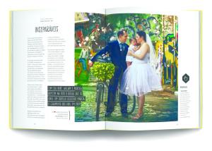 Entre as 50 histórias, está a do casamento do editor do Vá de Bike, Willian Cruz, com Priscila Teixeira. Na foto, um remake do casamento, agora com a participação da filhinha Marina.