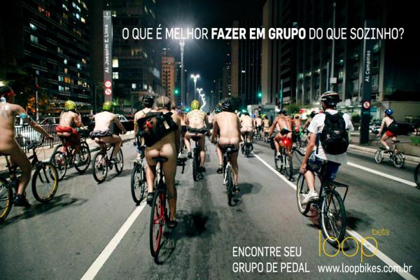 Ciclistas pelados - Imagem: Loop/Divulgação