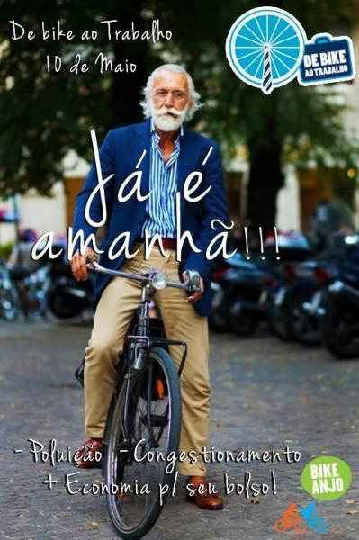 Já é amanhã! Dia 10 é o Dia de bike ao Trabalho no  Brasil. Imagem: Divulgação