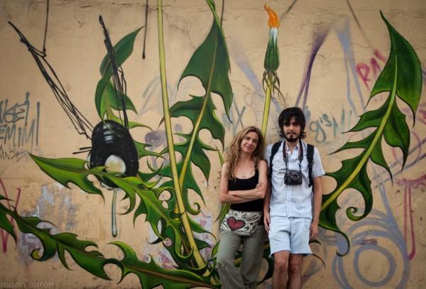 Mona Caron e Antônio de Paula. Foto: Arquivo Pessoal