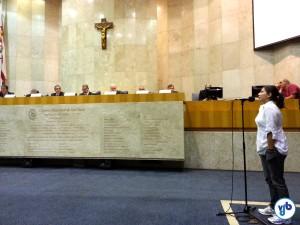 Evelyn Araripe, do Bike Anjo: países referência no uso da bicicleta não emplacam. Foto: Willian Cruz