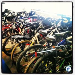 Ciclistas lotaram o bicicletário da Câmara. Foto: Rachel Schein