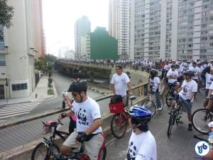 Cerca de 600 pessoas participaram da pedalada. Foto: Willian Cruz
