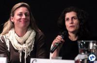 Fernanda Danelon (esq.) e Luciana Cury, dos Hortelões Urbanos. Foto: Rodrigo Paiva