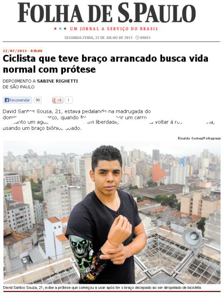 Clique na imagem para ampliar e aqui para ler a entrevista no site da Folha. Imagem: reprodução.