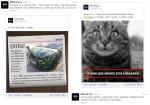 """Melhores momentos da campanha do Mini no Brasil: """"pronto pra maldade"""", estímulo à velocidade e valorização de características agressivas. Imagens: reprodução (Facebook/Twitter)"""
